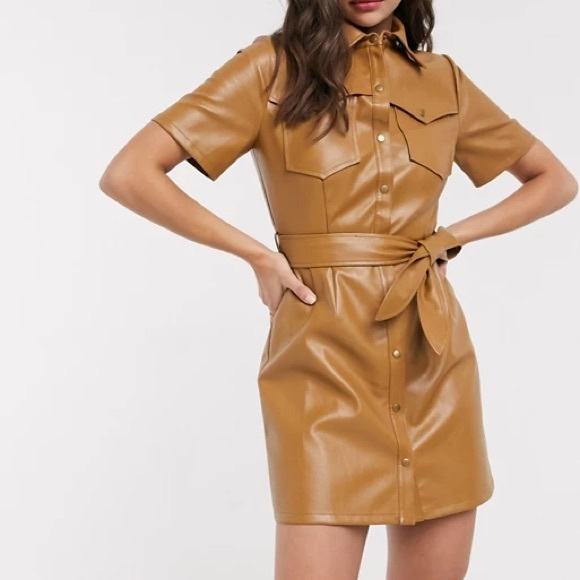Faux Leather Dress from brand Moon River